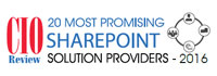 20 Most Promising SharePoint Solution Providers - 2016